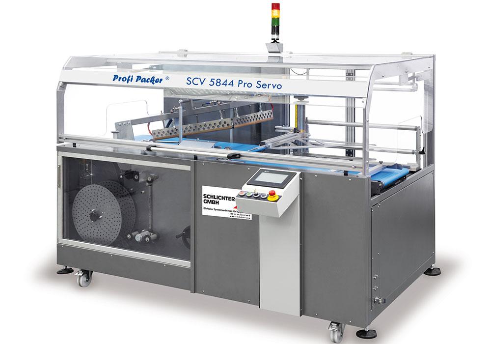 Vollautomatische Winkelschweißmaschinen taktend Profi-Packer-SCV-5844-Pro-Servo